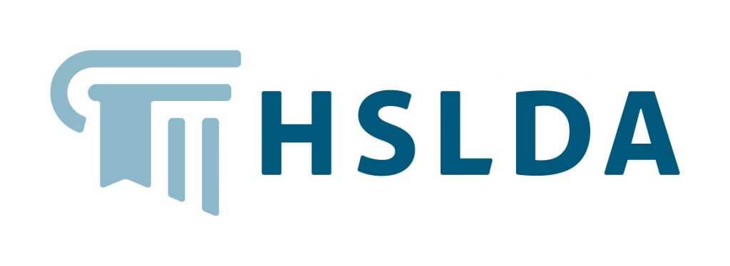 HSLDA logo with pillar icon