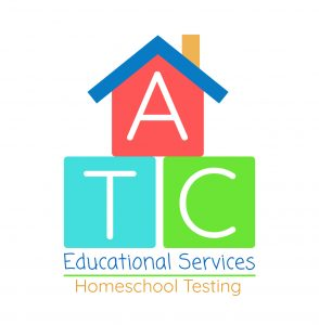 ATC Educational Services logo with ATC stacked in colored blocks under a blue roof with chimney.